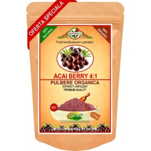 Pulbere Organica Acai Berry Extract 125 gr
