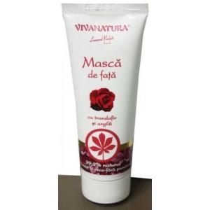 Masca de fata cu trandafir si argila 75 ml VivaNatura