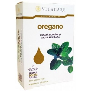 Ulei esențial de Oregano, Vitacare, 30 capsule